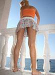 Tight Teen Debbies Shirt Skirt Blows Away - Picture 2