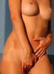 Absolutely Naked Teen Debbie Posing On Balcony - Picture 4