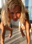Absolutely Naked Teen Debbie Posing On Balcony - Picture 13
