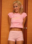 Sexy Teen Debbie Pulls Off Pink Cotton Undies - Picture 6